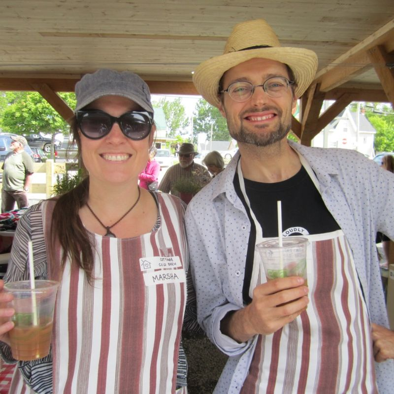 Marsha & Bee (Cottage Cold Brew) at Pugwash Farmer's Market