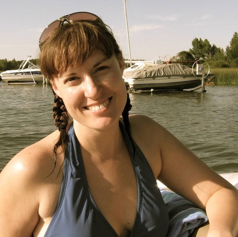 Marsha Amanova on a boat
