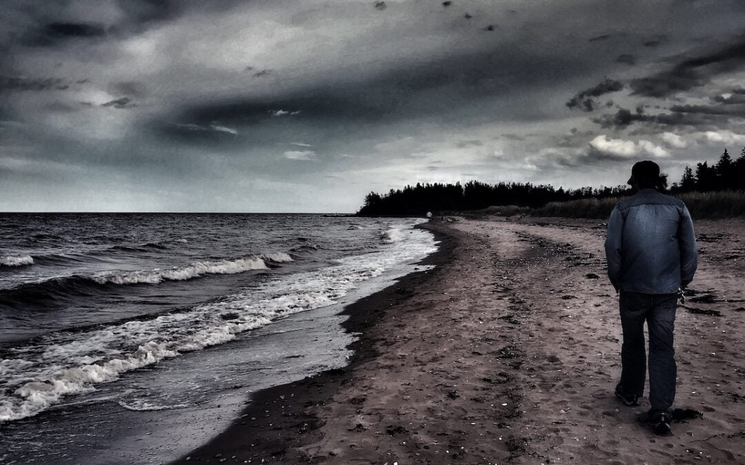 Walking on the Gulf Shore
